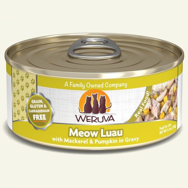 Weruva Classic Canned Cat Food, Meow Luau, 5.5 oz can