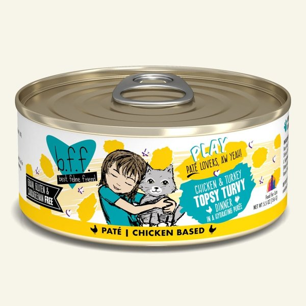 Weruva BFF Play Canned Cat Food, Topsy Turvy, 5.5 oz can