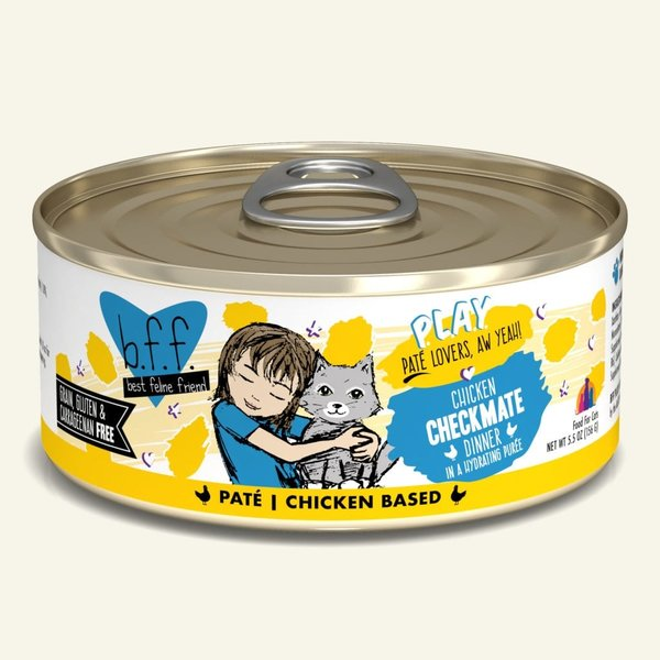 Weruva BFF Play Canned Cat Food, Checkmate, 5.5 oz can