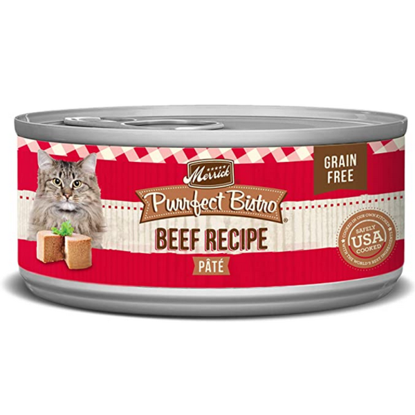 Merrick Purrfect Bistro Canned Cat Food, Beef, 24/5.5 oz (CASE)