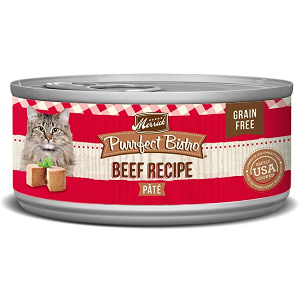 Merrick Purrfect Bistro Canned Cat Food, Beef, 24/3 oz (CASE)