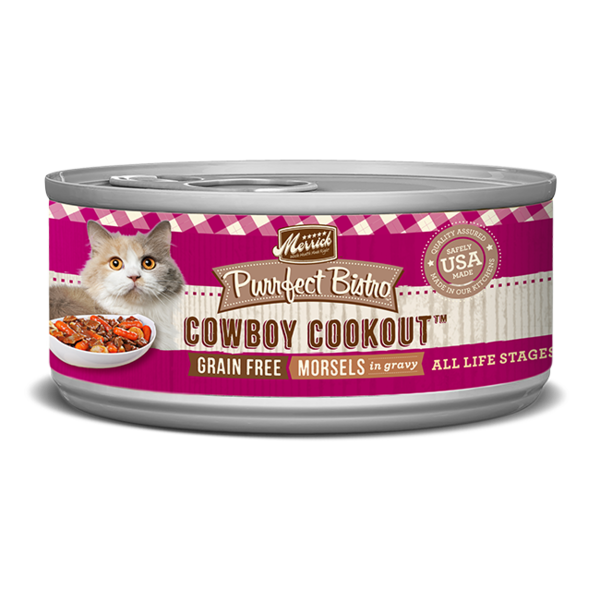 Merrick Purrfect Bistro Canned Cat Food, Cowboy Cookout, 5.5 oz (CASE)