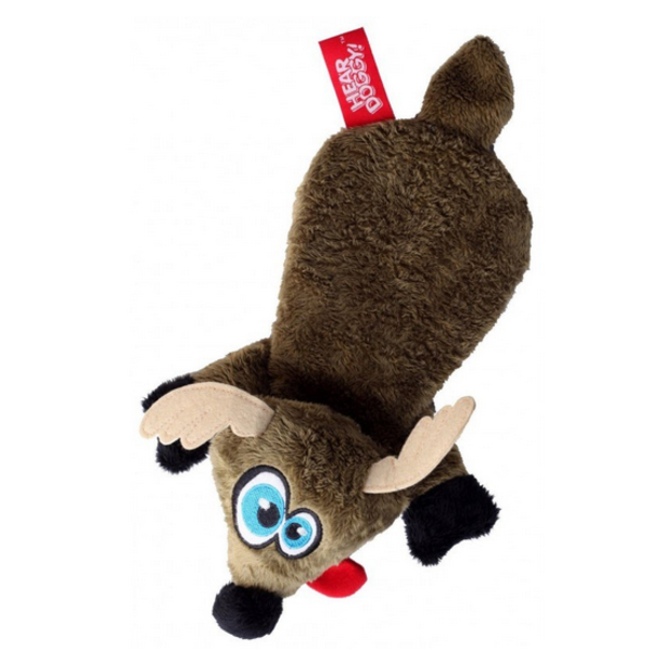 Hear Doggy Flats Brown Deer Dog Toy
