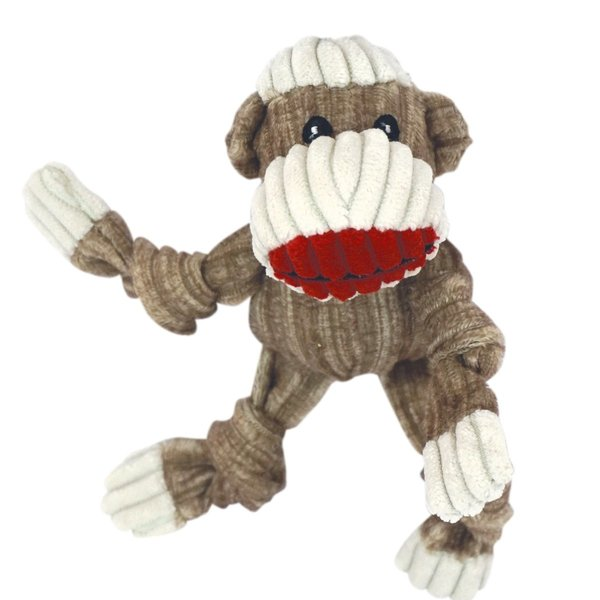 Huggle Hound Original Sock Monkey Knottie Dog Toy