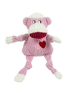 Huggle Hound Ms Sock Monkey Knottie Dog Toy, Small
