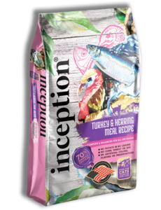 Inception Dry Cat Food, Turkey & Herring