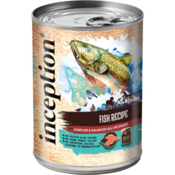 Inception Canned Dog Food, Fish, 13 oz can