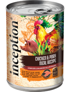 Inception Canned Dog Food, Chicken & Pork, 13 oz can