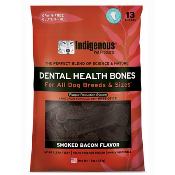 Indigenous Dental Health Bones Smoked Bacon, 17 oz bag