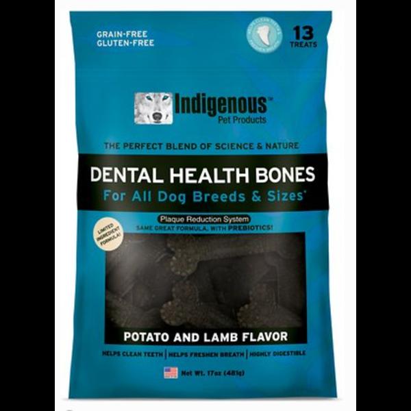 Indigenous Dental Health Bones Potato & Lamb, 17 oz bag