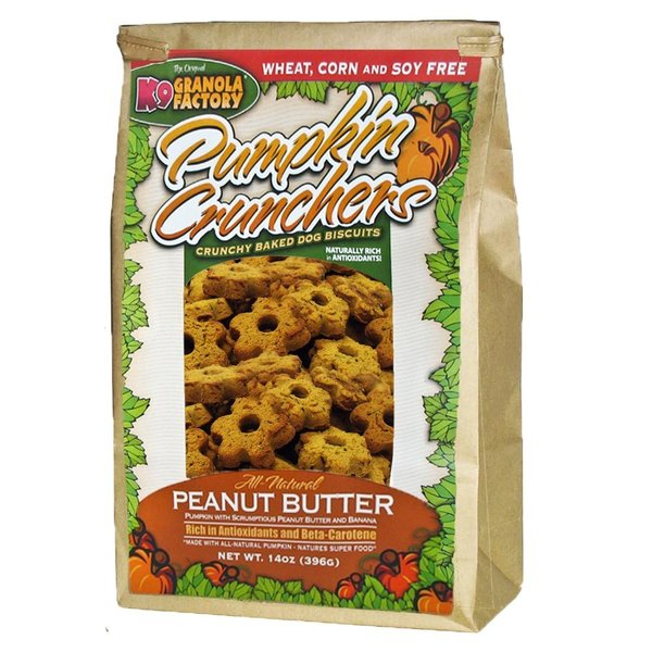K9 Granola Factory Peanut Butter & Banana Pumpkin Cruncher, 14 oz bag