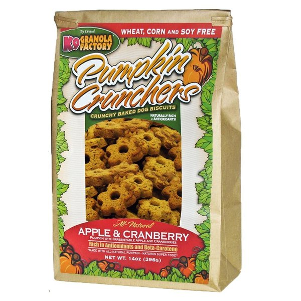 K9 Granola Factory Apple & Cranberry Pumpkin Cruncher, 14 oz bag