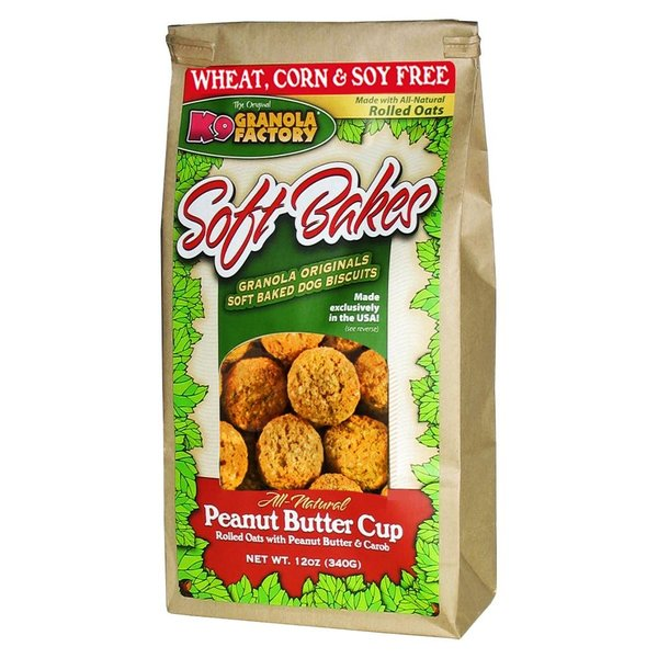 K9 Granola Factory Peanut Butter Cups Soft Bakes, 12 oz bag