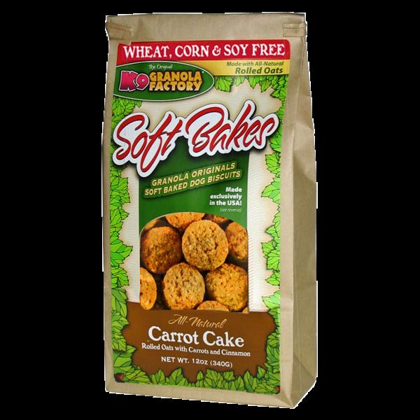 K9 Granola Factory Carrot Cake Soft Bakes, 12 oz bag