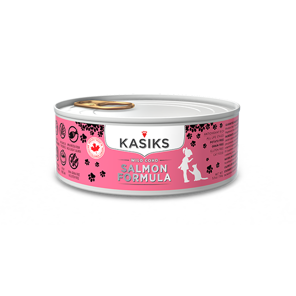 Kasiks Canned Cat Food, Wild Coho Salmon, 5.5 oz can