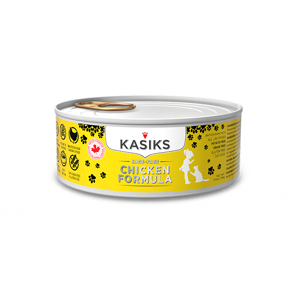 Kasiks Canned Cat Food, Cage Free Chicken, 5.5 oz can