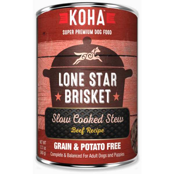 Koha Lone Star Brisket Dog Canned Food, 12.7 oz can