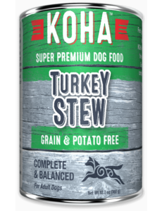 Koha Turkey Stew Canned Dog Food, 12.7 oz can