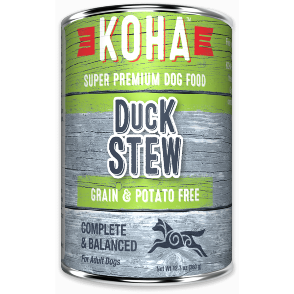 Koha Duck Stew Dog Canned Food, 12.7 oz can