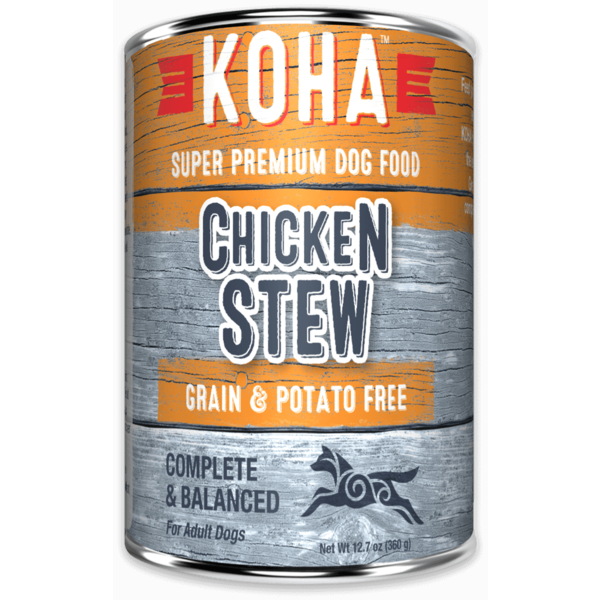 Koha Chicken Stew Dog Canned Food, 12.7 oz can