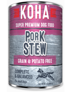 Koha Pork Stew Canned Dog Food, 12.7 oz can