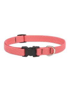 "Lupine Eco Coral 1/2"" Width Collar Small 8-12"""