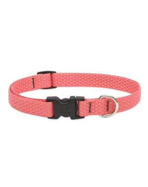 """Lupine Eco Coral 1/2"""" Width Collar Small 8-12"""""""