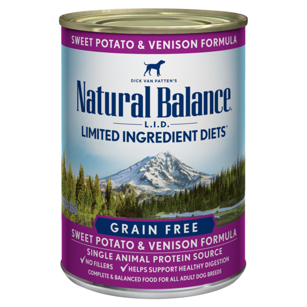 Natural Balance Limited Ingredient Diet Venison & Sweet Potato Dog Canned Food, 13oz can