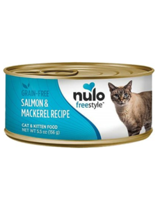 Nulo Freestyle Salmon & Mackerel Cat & Kitten Canned Food, 5.5 oz can