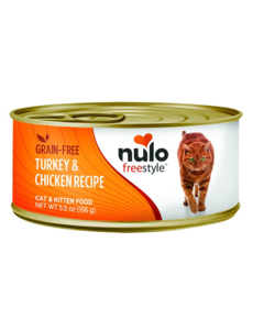 Nulo Freestyle Turkey & Chicken Canned Cat & Kitten Food, 5.5 oz can