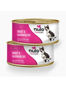 Nulo Freestyle Trout & Salmon Canned Cat & Kitten Food, 5.5 oz can