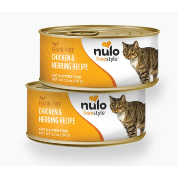Nulo Freestyle Chicken & Herring Canned Cat & Kitten Food, 5.5 oz can
