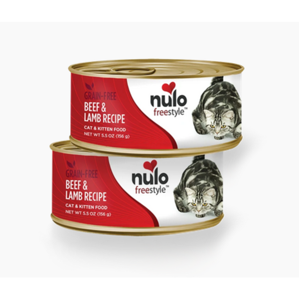 Nulo Freestyle Beef & Lamb Canned Cat & Kitten Food, 5.5 oz can