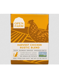 Open Farm Harvest Chicken Rustic Blend Wet Cat Food, 5.5 oz box