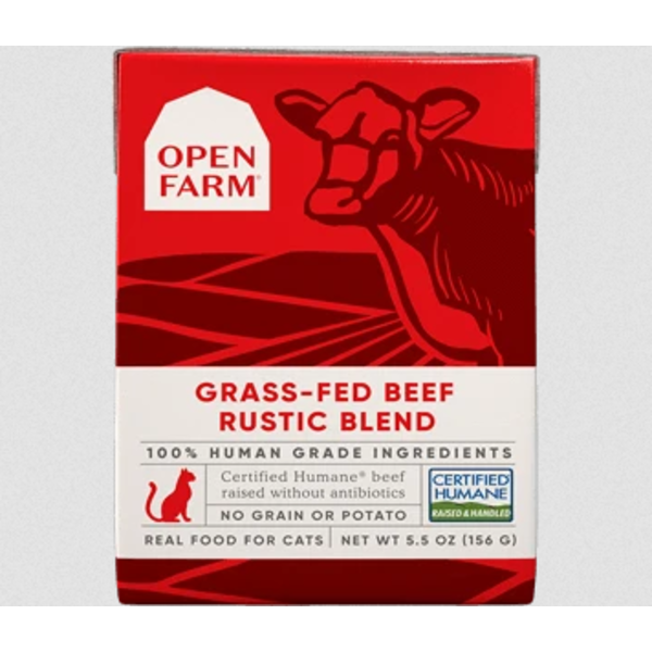 Open Farm Grass-Fed Beef Rustic Blend Wet Cat Food, 5.5 oz box