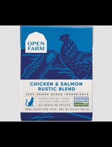 Open Farm Chicken & Salmon Rustic Blend Cat Wet Food, 5.5 oz box