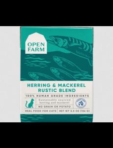 Open Farm Herring & Mackerel Rustic Blend Wet Cat Food, 5.5 oz box
