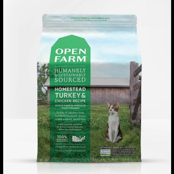 Open Farm Dry Cat Food, Turkey & Chicken, 4 lb bag