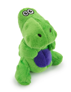 Dino T Rex, Green, Small Dog Toy