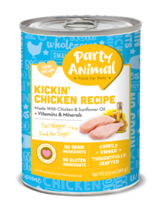 Party Animal Kickin' Chicken Canned Dog Food, 13 oz can