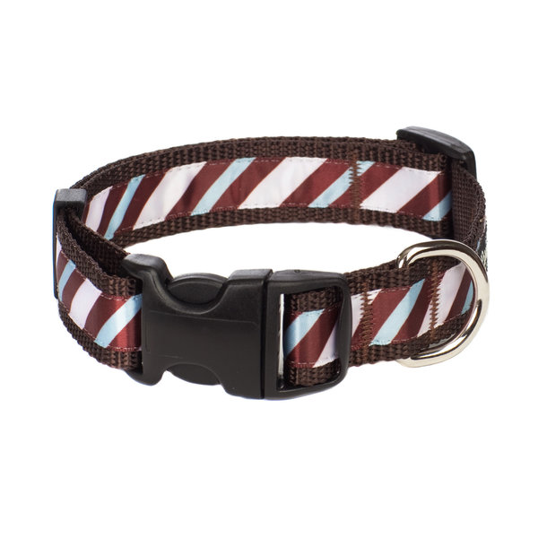 Paw Paws Chocolate Snow Cone Stripe Collar