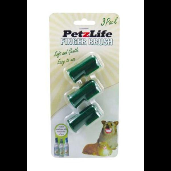 PetzLife Complete Finger Brush, 3 pack