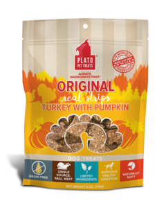 Plato Pet Treats Original Turkey & Pumpkin Dog Treats, 18 oz bag