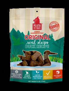 Plato Pet Treats Original Duck Dog Treats, 18 oz bag