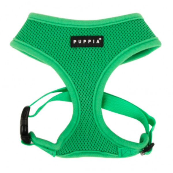 Puppia Soft Harness Green, Medium