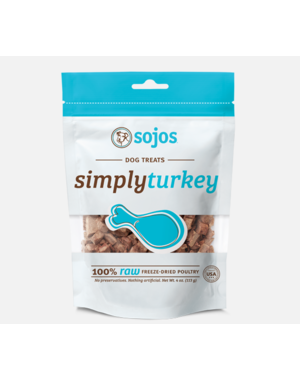 Sojos Simply Turkey Freeze-Dried Dog Treats, 4 oz bag