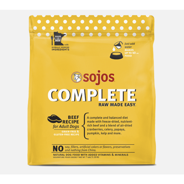 Sojos Complete Freeze-Dried Dog Food, Beef