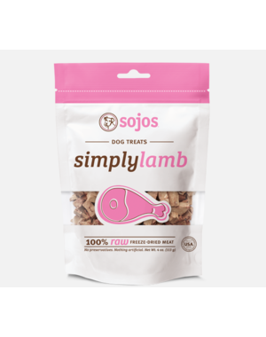 Sojos Simply Lamb Freeze-Dried Dog Treats, 4 oz bag