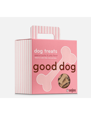 Sojos Good Dog Peanut Butter & Jelly Dog Treat, 8 oz box