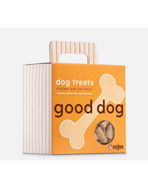 Sojos Good Dog Chicken Pot Pie Dog Treat, 8 oz box